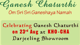 Celebrating Ganesh Chaturthi on 23rd Aug at KHO-CHA Darjeeling Showroom